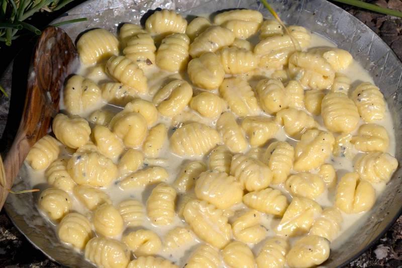 Gnocchi mit Gorgonzola Zubereitung