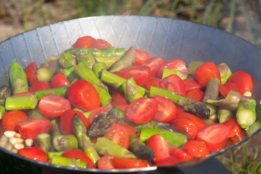 Spargel-und-Tomaten-Pasta
