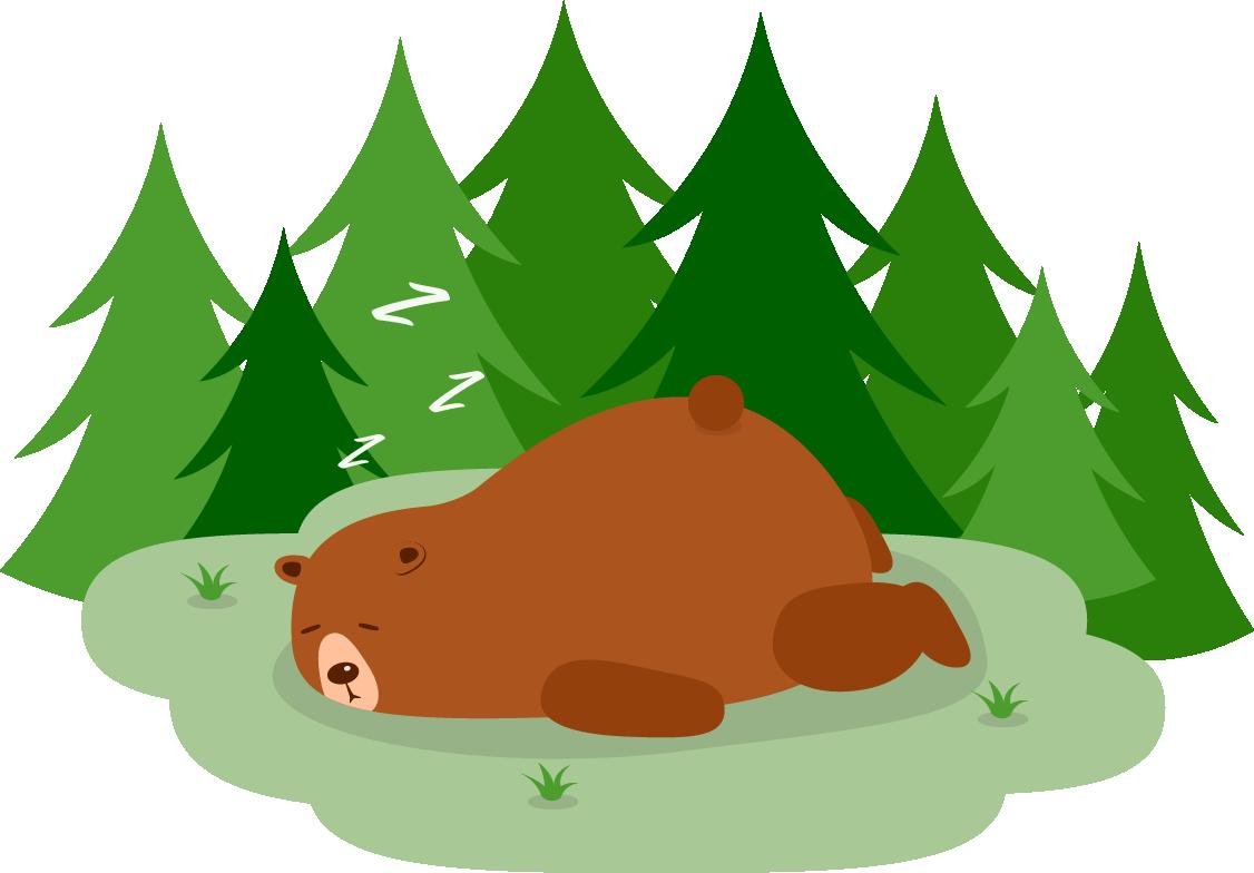 Camping Rezepte Maskottchen schlafend